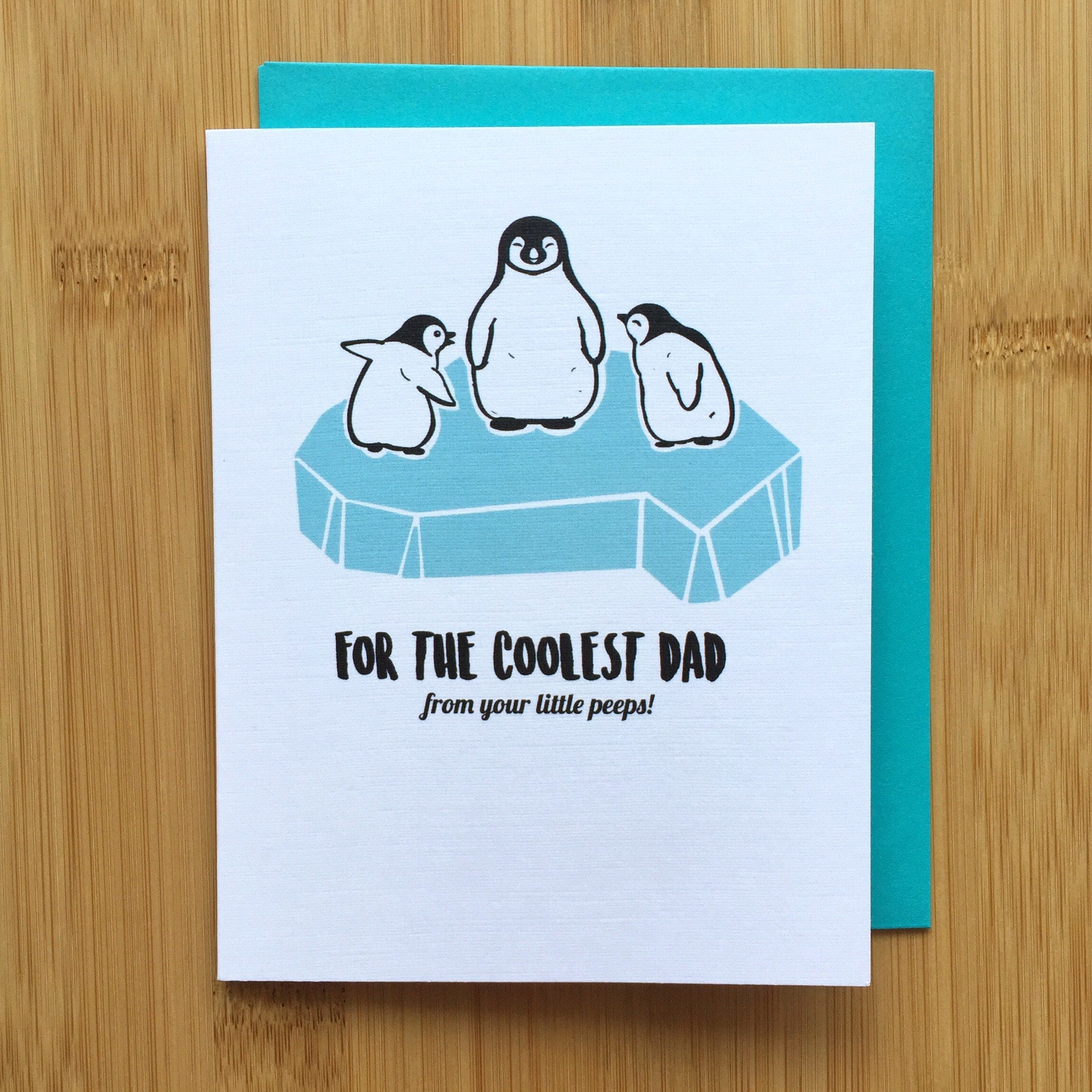 Penguin Fathers Day Card Cute Penguin Card Penguin Gift Gift