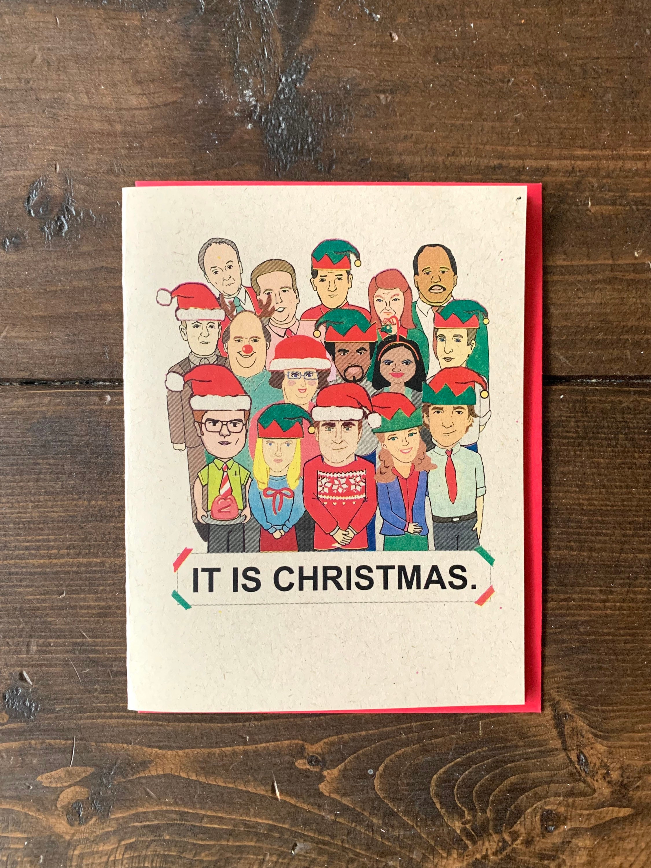 The Office Full Cast Christmas Card - the office tv show ...
