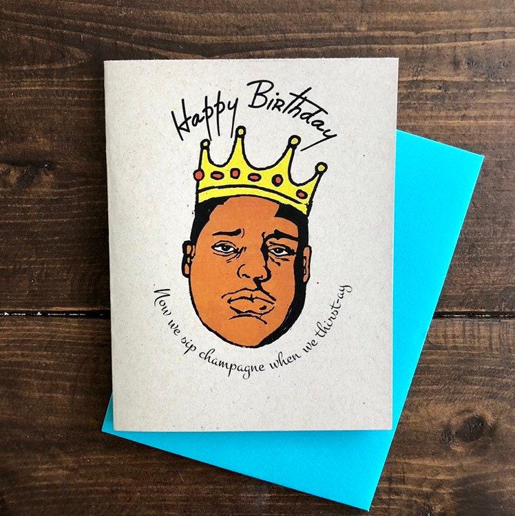 Notorious BIG Birthday Card Biggie Smalls Juicy 90s Hip Hop Party
