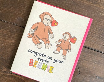 Beanie Babies 90s Retro Baby Shower Card