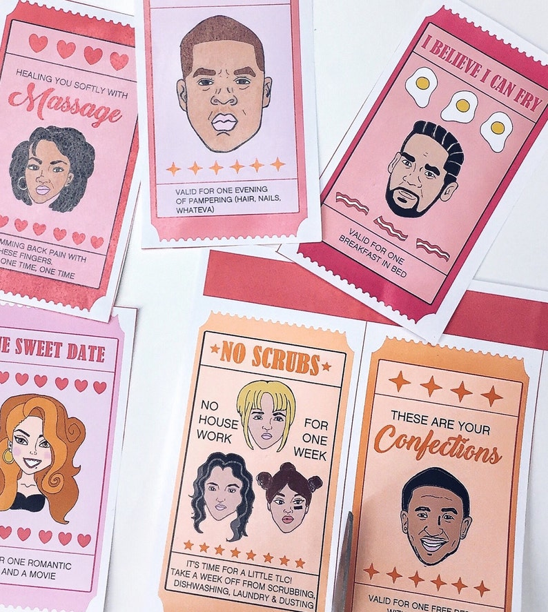 90s R/&B Love Coupons Hip Hop Valentine Card Coupons Valentines Anniversary Card Instand Download Printable Throwback Coupon Book