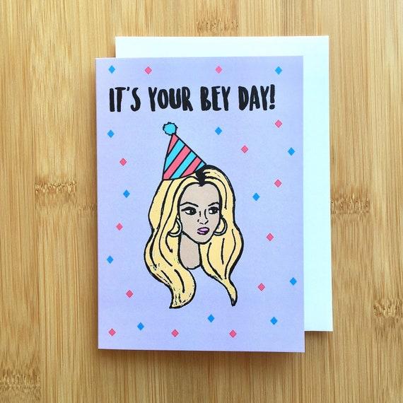 Beyonce Birthday Card Handmade A2 Birthday Bey Bae Beyhive Etsy