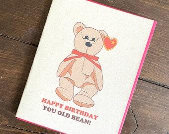 Beanie Babies 90s Retro Birthday Card