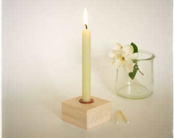 """8"""" Long Skinny Tapers, 1/2"""" Diameter Candles, Thin Beeswax Tapers, Small Tapers, White Beeswax, Winter Wedding Candles, Antique Tapers"""