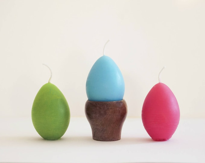 Easter Egg Candles, Three Egg Candles, Beeswax Egg, Easter Egg Votives, Holiday Candles