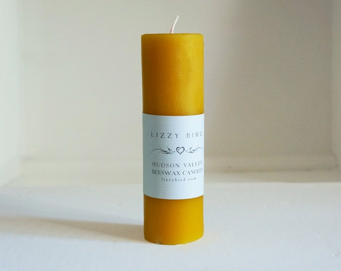One Beeswax Pillar Candle, Pillar Candle, Tall Pillar, Color Beeswax Candles, Custom Colors, Long Pillar, Beeswax Pillars