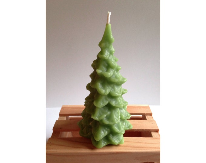 Tree Candle, Green Candles,Holiday Candles, Christmas Tree, Beeswax Holiday Candles