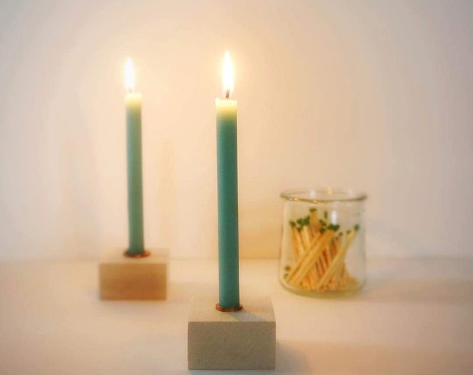 "Eight Inch Tall Skinny Candles, Half Inch Diameter Beeswax Tapers, Bee-Friendly, Thin Tapers, Small Candles, Thin Candles, 1/2"" Tapers"
