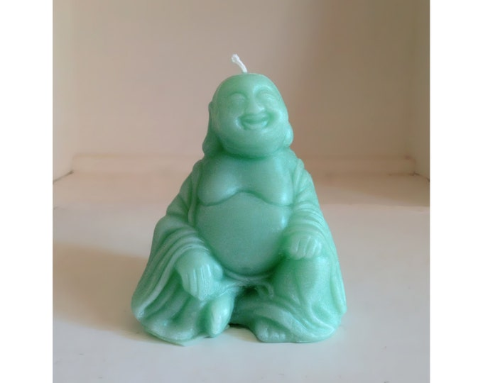 Buddah Candle, Beeswax Candles, Turquoise Candles, Jade Buddah, Happy Buddah Candle, Buddah Statue, Buddhist Candles