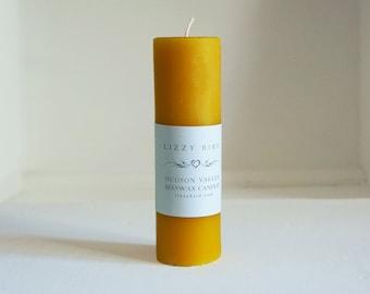 Bright Yellow Candle, One Beeswax Pillar Candle, Tall Pillar, Colored Beeswax Candles, Custom Colors, Long Pillar, Beeswax Pillars