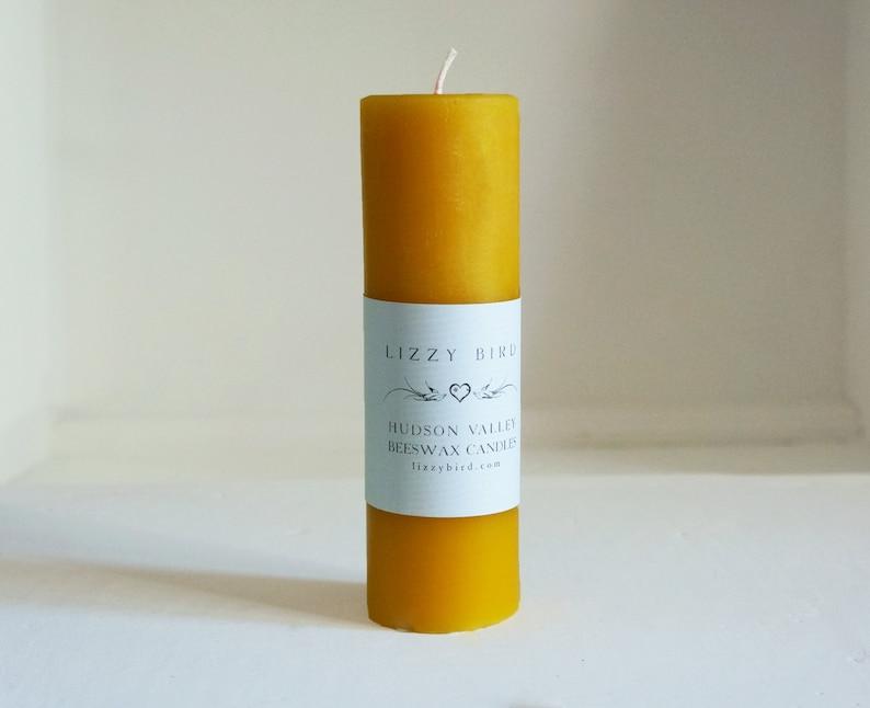 One Beeswax Pillar Candle Pillar Candle Tall Pillar Color image 0