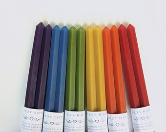 12 Inch Hex Tapers, Hexagonal Candles, Beeswax Candles, Hexagonal Tapers, Taper Candles, Custom Colors, Customized Candles, Wedding Candles