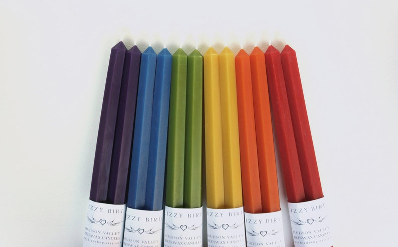 12 Inch Hex Tapers Hexagonal Candles Beeswax Candles image 0