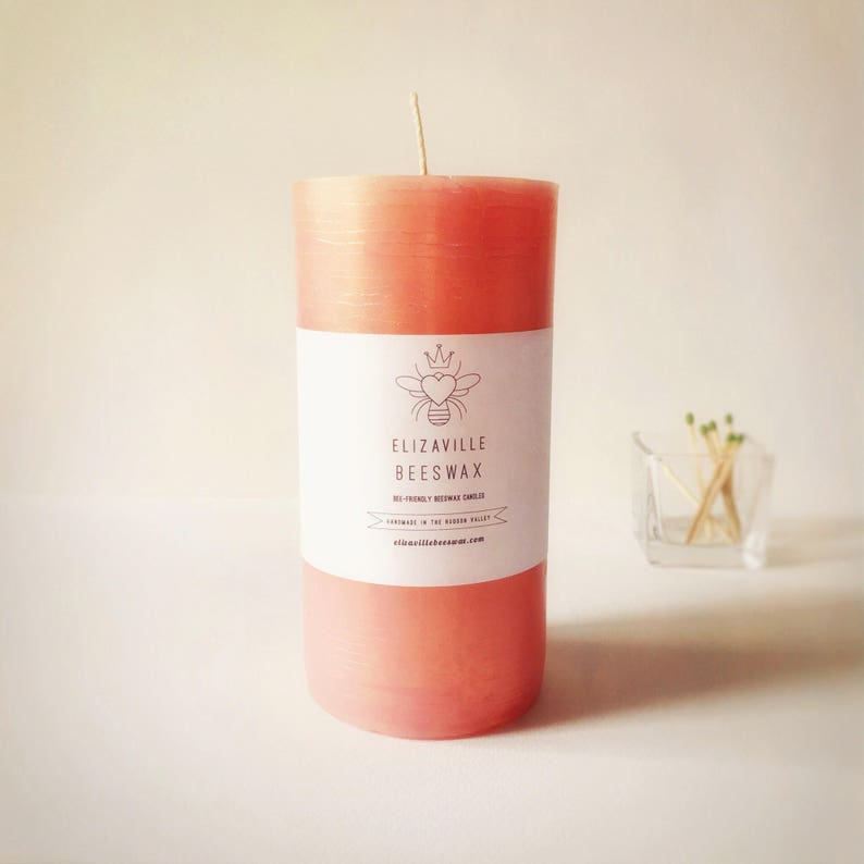 Ceremony Candle Large Beeswax Pillar 6x3 inch Candle Rose image 0
