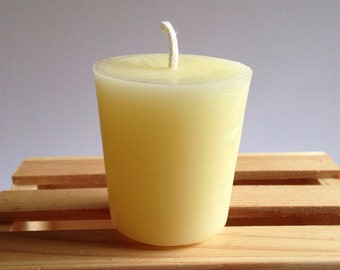 Beeswax Votive, Beeswax Candle, Natural Ivory Beeswax, Standard Size Votives, Small Candles, Short Candles, Regular Votive, Beeswax Votives