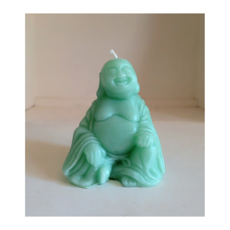 Buddah Candle Beeswax Candles Turquoise Candles Jade image 0