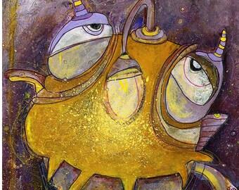 Art Print 30x40 | lanternfish | Martina Lengers