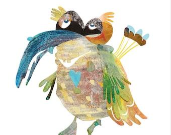 Art Print 20x30/30x40 | parachute-bird | Martina Lengers
