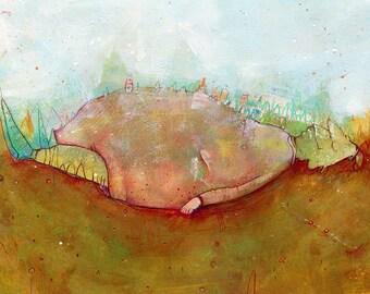 Art Print 20x30/30x40 | mountain giant | Martina Lengers