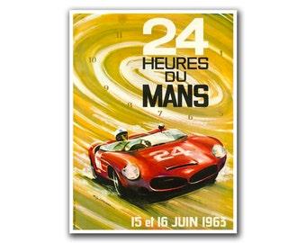 Art Retro Poster Race Car Le Mans Travel Poster Sports Wall Art Print (H114)