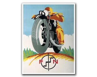 Motorcycle Poster Retro Art Sports Decor Print (H18)