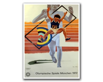 Olympics Poster Sports Art Track And Field Wall Decor (H36)