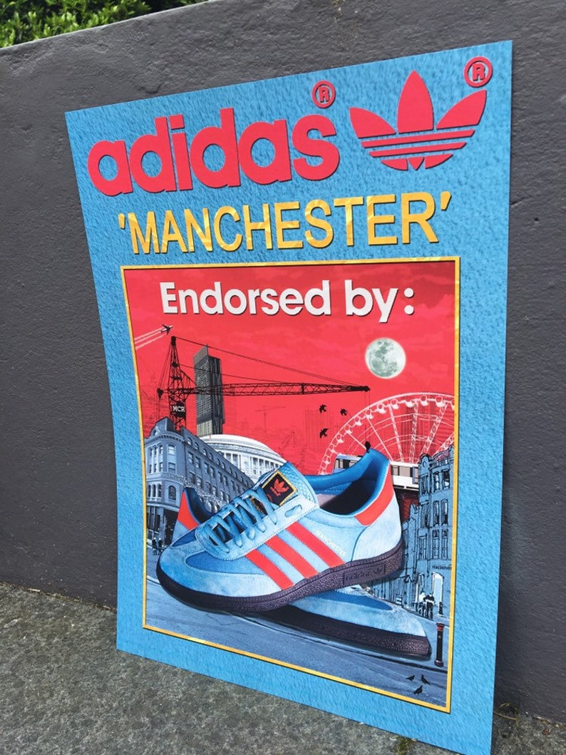 ADIDAS Originals Manchester City Series A3 Print trainers Limited Edition