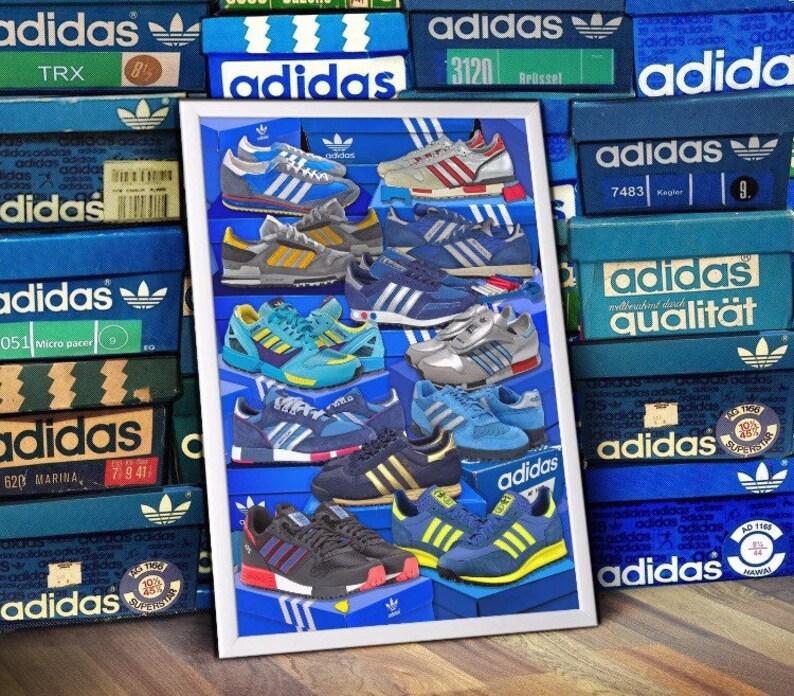 ADIDAS Originals runners Series Trainers A3 Print Limited Edition Trx zx matathon tr sl80