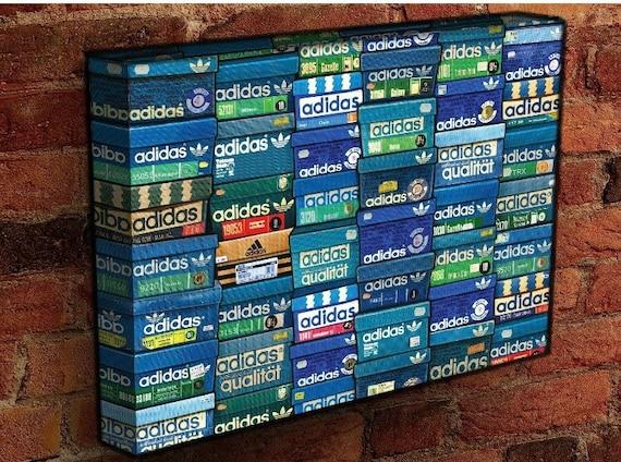 ADIDAS Originals vintage shoe boxes fully wrapped deep framed | Etsy