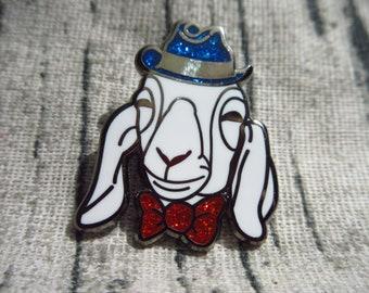 Annie Oakley (the goat) Sparkley Enamel pin