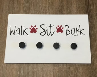 Handpainted Dog Leash Hanger - Dog Leash Holder