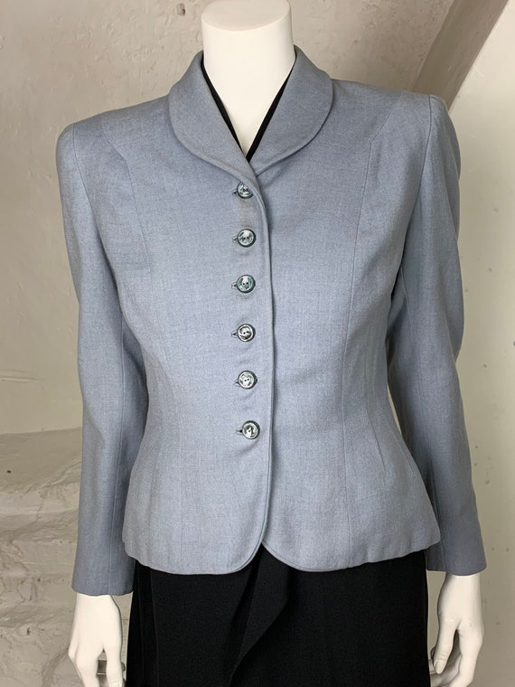 1940s light blue wool jacket - image 2