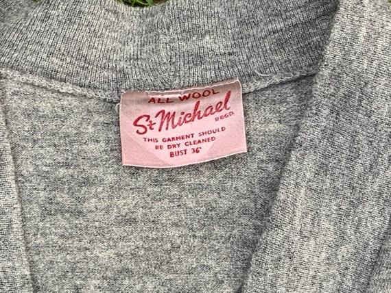 Grey late 40s machine knit St Michael bolero - image 7