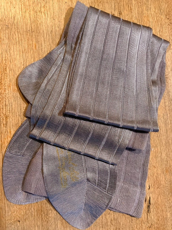 Silver Grey Art Silk 1920s stockings