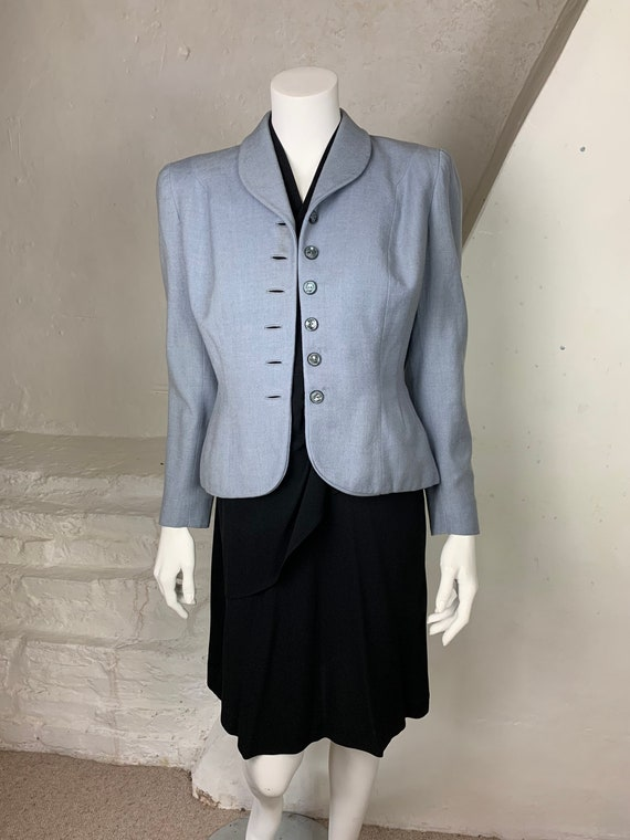 1940s light blue wool jacket - image 1