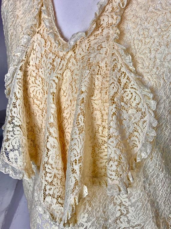 1930s cotton lace front blouse