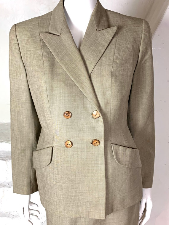 Fine smooth wool 40s style skirt suit