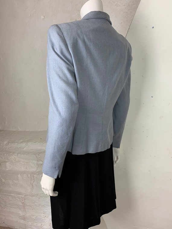1940s light blue wool jacket - image 4
