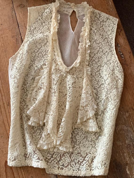 1930s cotton lace modesty blouse