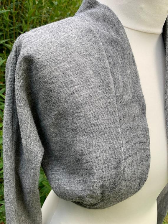 Grey late 40s machine knit St Michael bolero - image 3