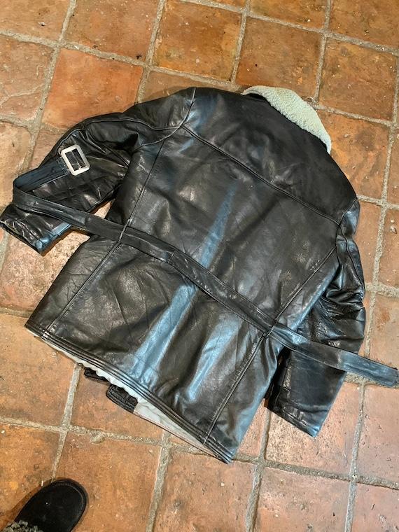 Gents 40s/50s vintage Barnstormer leather belted j