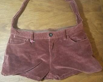 Upcycled Corduroy Pants Bag
