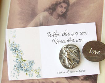 Angel Pocket Tokens, memorial pocket token, miscarriage, When This You See Remember Me, angel token, child loss, baby loss, mothers day
