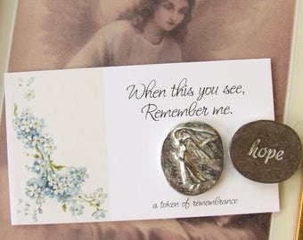 Angel Pocket Tokens, memorial pocket token, miscarriage, stillborn, memorial jewelry, infant loss, miscarriage gift, baby loss, child loss