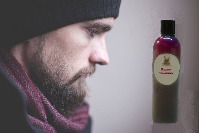 5 oz Natural MEN'S Silk BEARD SHAMPOO Thickening Promotes Growth! Organic  Ingredients! Active Extracts & Essential Oils! See my Beard Oil!