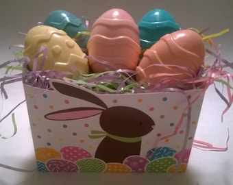 BASKET of 6 Egg SOAPS 100% Natural  Guest Soaps Gift Decorative, Soaps Homemade, Floral Soaps Customize: Scents and Color