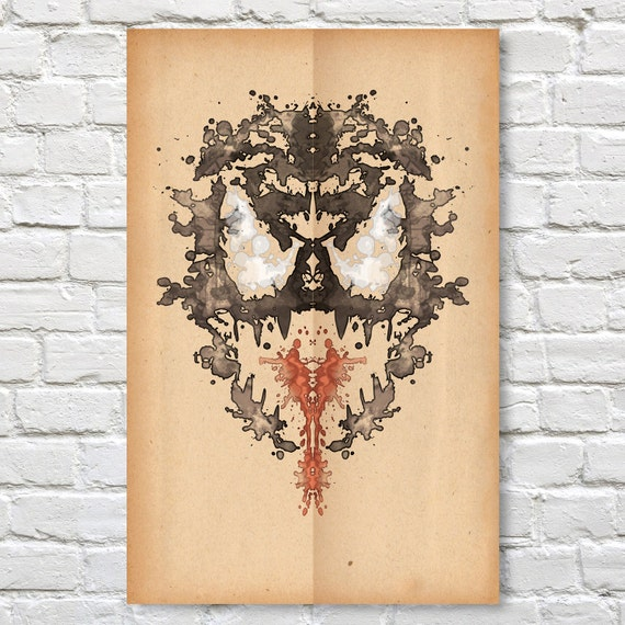 venom rorschach poster marvel 11 x 17 etsy