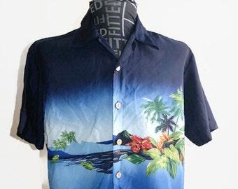 d3784d3a Vintage Kennington Ltd California Hawaiian Shirt Men's