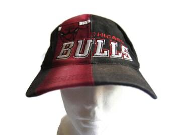 6492cbf4d9d Vintage 90s 1997 NBA Draft Cap Chicago Bulls Sports Specialties Basketball Snapback  Hat Distressed