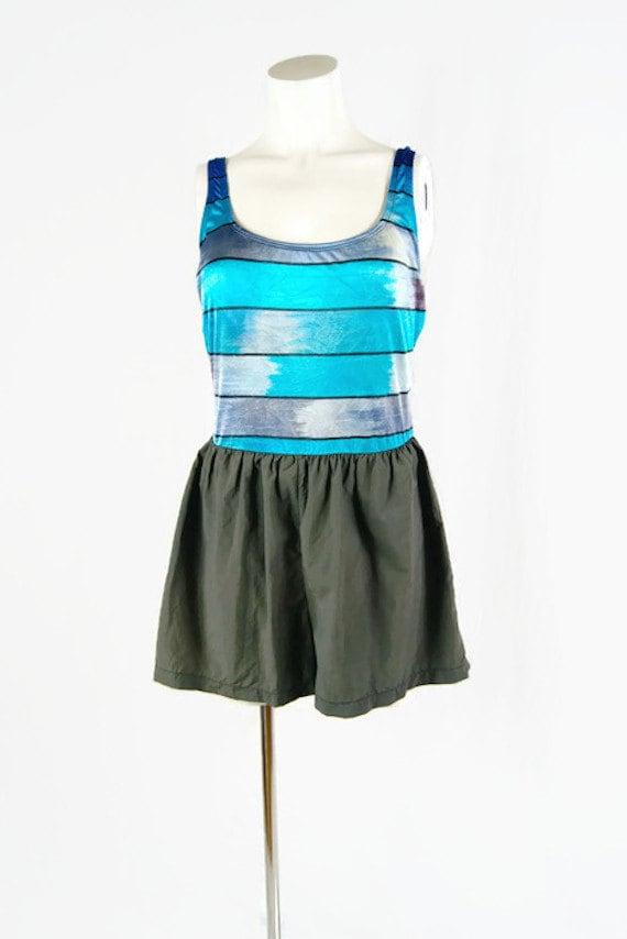 Vintage Robby Len Swimfashions Swimsuit Shorts Nyl